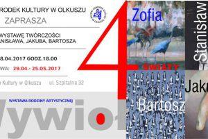 Miejski Ośrodek Kultury zaprasza na wystawę Zofii, Stanisława, Jakuba i Bartosza Wywiołów