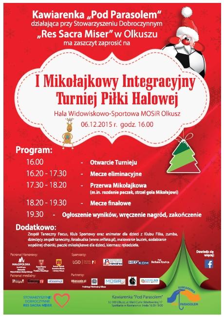 Turniej Mikołajkowy - plakat